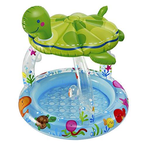Kinderplanschbecken meeresschildkröte mit sonnendach