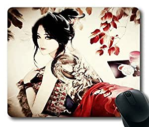 Modern Geisha POP Limited Design Oblong Mouse Pad by Cases & Mousepads