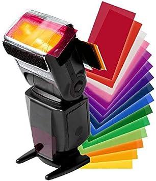 12pc Strobist Flash Color card diffuser Lighting Gel Pop Up Filter for camera