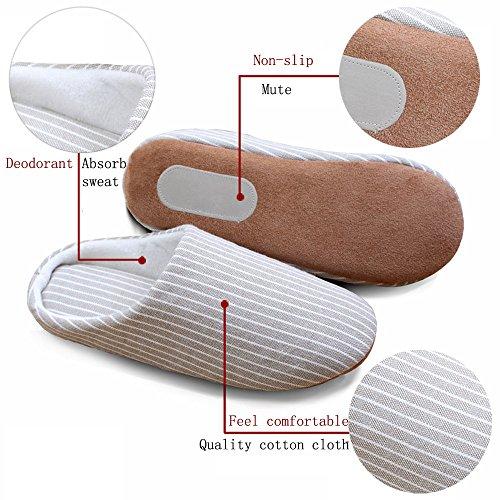 Cotone Scarpe Asifn Suola Interne Brown Eleganti Pelose Pantofole Morbida Ciabatte Donna Slippers Inverno Feltro Uomo Casa rHr68q