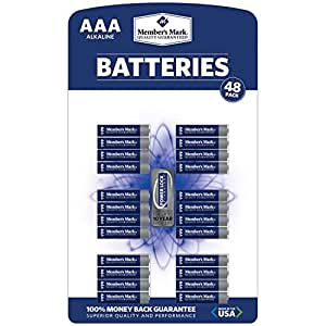 Amazon.com: Member's Mark AAA Alkaline Batteries - 48 pk