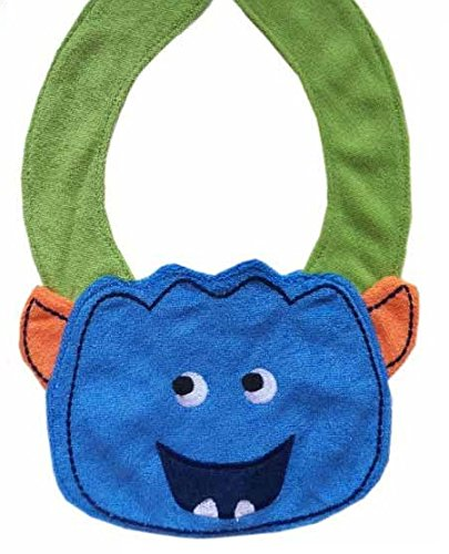 Lil' Oopsies Bibs for Toddlers - Premium Quality, 3 Layered Absorbent & Waterproof Teething, Feeding & Drooling Bibs. Unique Baby Shower Gift for Girls. Suitable for Husky Babies to Toddlers. Monster ()