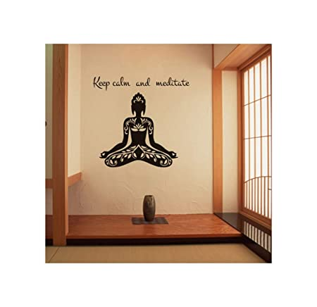 CHENYAJUAN Patrón De Yoga Pegatinas De Pared Casa Salón ...