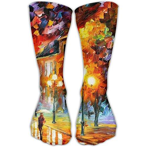 Unisex Tube Socks Crew Oil Painting Soccer Comfort Over The Calf Stockings For Sport And Travel