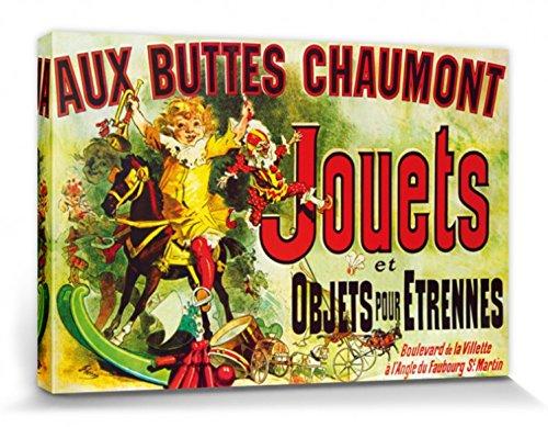 Vintage Stretched Canvas Print - Aux Buttes Chaumont, Jouets Et Objets Pour Étrennes, Jules Cheret, 1885 (47 x 32 ()
