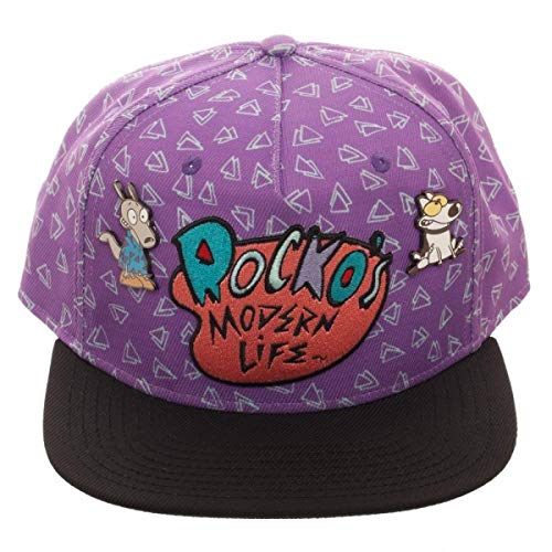 c238ee7b8e8302 Image Unavailable. Image not available for. Color: Rocko's Modern Life  Embroidered Logo Snapback Hat