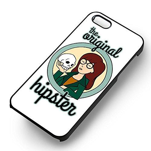 Unique Daria Hipster pour Coque Iphone 5 or Coque Iphone 5S or Coque Iphone 5SE Case (Noir Boîtier en plastique dur) J8N4CX