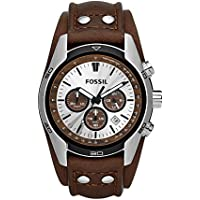 Men's CH2565 Cuff Chronograph Tan Leather Watch