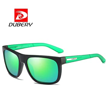 6214c9b363 DUBERY Sunglasses Men s Polarized Sunglasses Outdoor Driving Men Women  Sport Frame Fishing Hunting Boating Glasses (