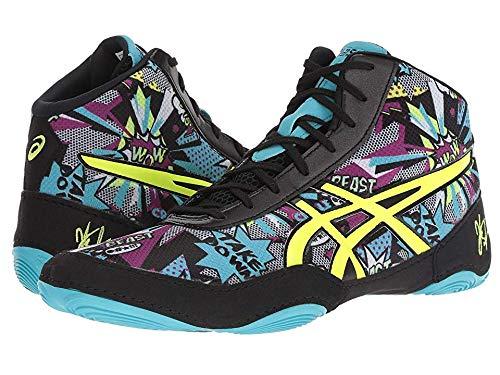 ASICS Men's JB Elite V2.0 Wrestling Shoe, Comic/Flash Yellow/Blue Alt, Size 10