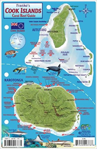 Cook Islands Dive Map Coral Reef Creatures Guide Franko Maps