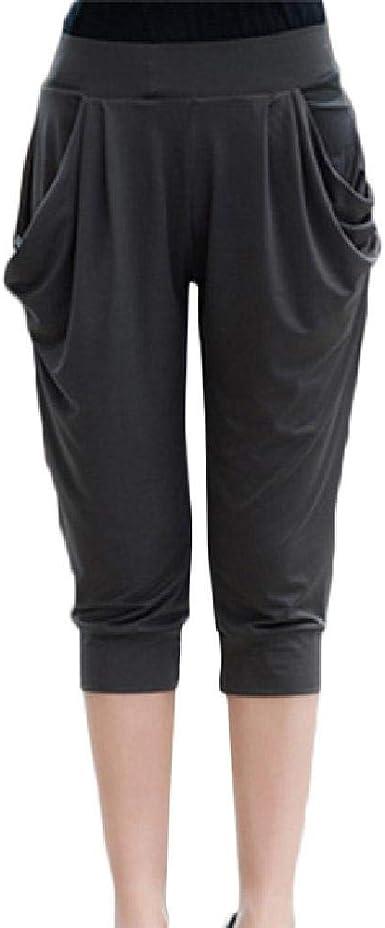 Pantalones Cortos De Verano Para Mujer Pantalones De Haren Finos Elasticos De Seda Con Leche Amazon Es Ropa Y Accesorios