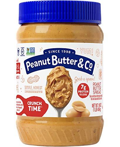 - Peanut Butter & Co. Peanut Butter, Non-GMO, Gluten Free, Vegan, Crunch Time, 16-Ounce Jar