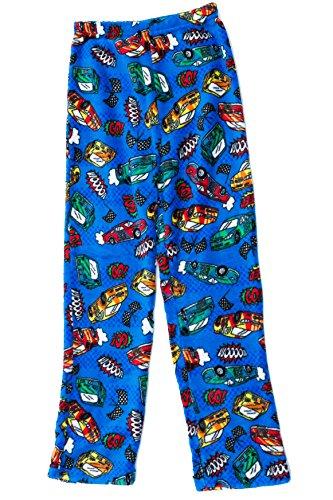 h Pajama Pants - Fleece PJs for Boys, Blue - Cars, Boys' 10-12 ()