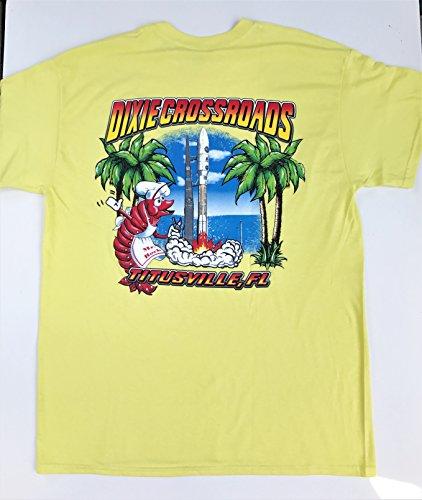 - Dixie Crossroads Rocket T-shirt short sleeve (Large, Yellow)