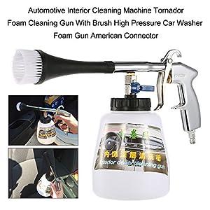 KKmoon Foam Cleaning Gun With Brush Automotive Interior Cleaning Machine Tornador High Pressure Car Washer Foam Gun American Connector