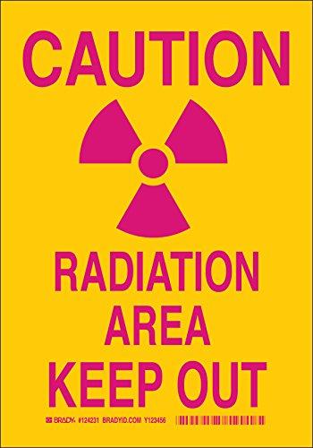 Brady 124229 Radiation and Laser Sign, Legend