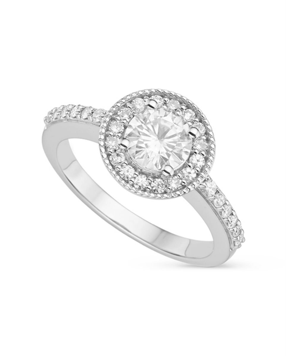 Forever Classic Round 6.0mm Moissanite Engagement Ring-size 8, 1.08cttw DEW By Charles & Colvard