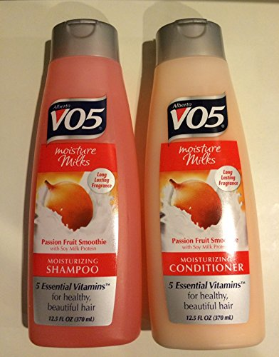 - Alberto Vo5 Passion Fruit Smoothie, Moisture Milks, Shampoo & Conditioner Set (One of each)