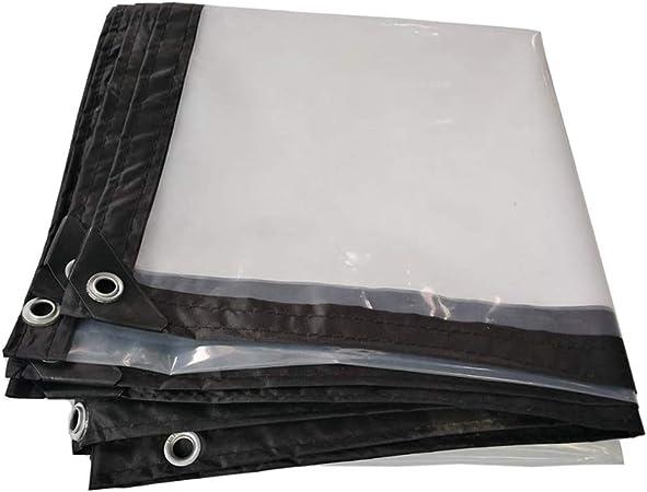 ER-JI Telone Impermeabile in PE Trasparente parapioggia Spessa Balcone Tendina Parasole telone Solare con Perforazione 120 g,1X2m