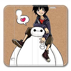 iCustomonline Leather Case for Samsung galaxy S4, Big Hero 6 Ultimate Protection Leather Case for Samsung galaxy S4