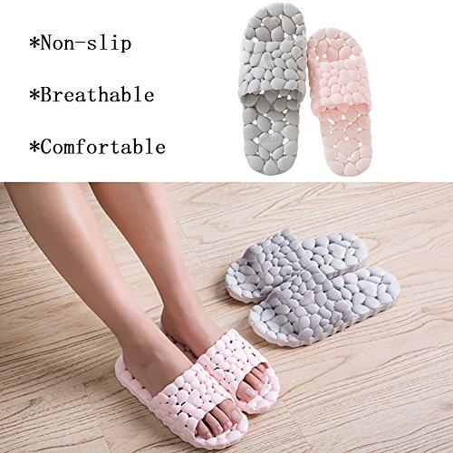 Sandal Slip Massage Shower Spa Bathroom Foam Non WYSBAOSHU Pink Household Slipper PIZUqzn