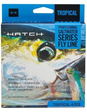 Hatch Outdoors Saltwater Fly Line - Sinking YELLOW/GRAY 500 GR