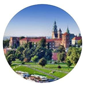 alfombrilla de ratón Castillo de Wawel en Cracovia, Polonia - ronda - 20cm