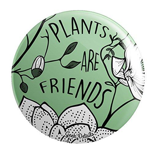 Plant Pin (Geek Details Plants Are Friends Pinback Button)