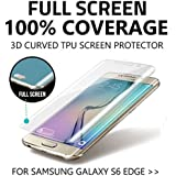 Adspec® 100% Full Coverage 3D Curved Premium TPU Gel Anti Shock Screen Protector for Samsung Galaxy S6 Edge Front