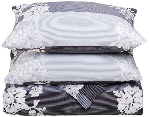 DaDa Bedding DC102x90M8153 3-Piece Royal Cotton Duvet Cover Set, King (Navy Toile Bedding)
