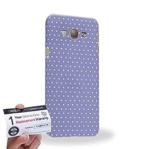 Case88 [Samsung Galaxy A8] 3D impresa Carcasa/Funda dura para & Tarjeta de garantía - Art Coloured Doodle Patterns Blue Dot