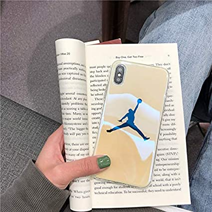 1 piece luxury Blue light fly man AIR Jordan 23 case for iPhone X Xs Max XR 8 7 6 6S Plus AJ glossy imd Soft silicon phone cover coque