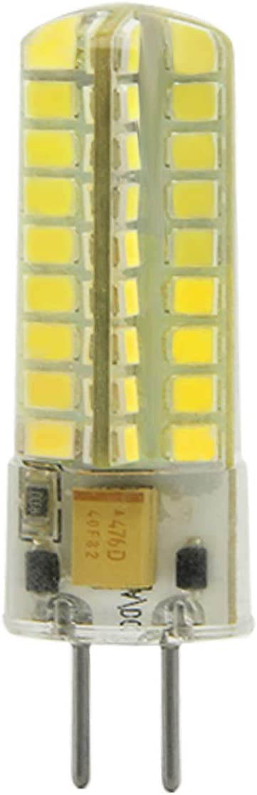 SEAMI 2-Packs 5W 12V G6.35/GY6.35 Bi-Pin Base Bombilla LED 450 Lúmen Blanco Frío 6000K Equivalente 50W halógena Lámpara[Clase de eficiencia energética A+]
