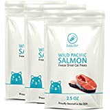 Wild Pacific Freeze Dried Salmon Cat & Dog Treats 2.5oz by TickledPet (2.5oz/3-Pack)