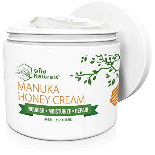 (Manuka Honey Healing Eczema Cream : Aloe Vera + Shea Butter + Coconut Oil + Hemp Seed Oil Anti Itch Natural Moisturizer Face and Body Lotion for Dry Skin Dermatitis Psoriasis Rosacea Sunburn Relief)