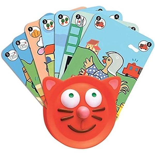 Djeco 144-016 - Portacartas, diseño gato: Amazon.es: Bebé