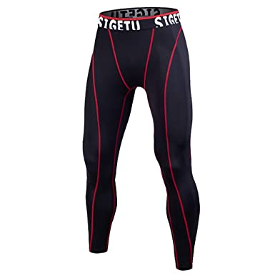3cb8e8371ae7d Men Training Compression Pants Workout Running Tights Fitness Sports  Leggings (Black, S)
