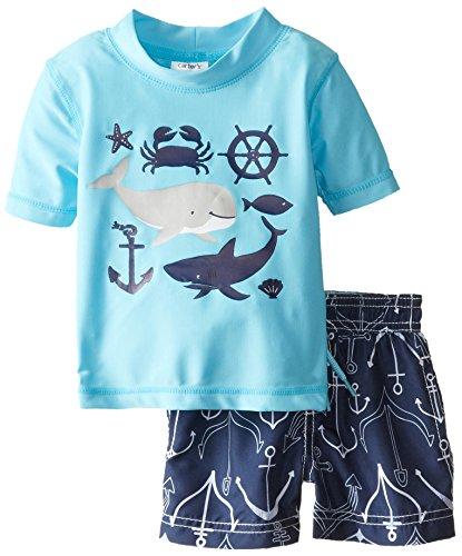 Carter's Baby-Boys Newborn Boy Whale and Friends RG Set, Blue, 6-9 Months
