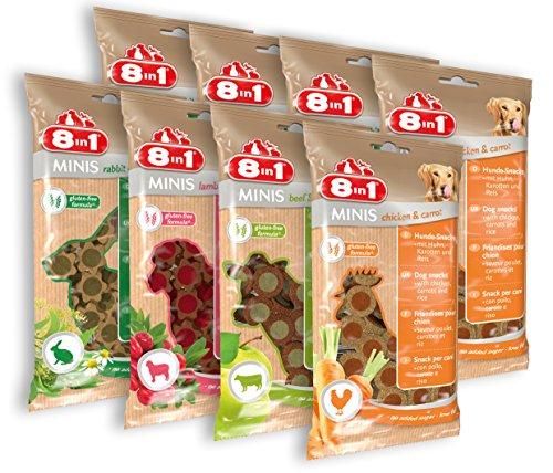 8in1 Minis Selection Hundesnack in 4 verschiedenen Sorten 8 x 100 g