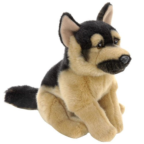 "Animal Alley Plush 9"" German Shepherd Dog Black and Tan"