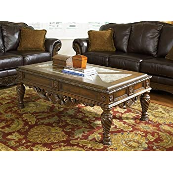 ashley furniture north shore panel bedroom set this item signature design coffee table cocktail height rectangular dark brown collection