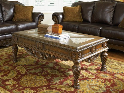 Antique Marble Coffee Table - 6