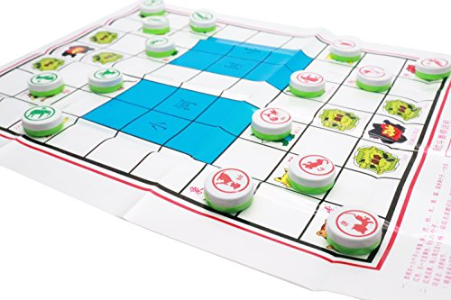 - LDEXIN Chinese Chess Xiangqi Plastic Paper Board Jungle Animal Chess Dou Shou Qi Set Simple Parent-Child Game