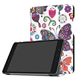 GBSELL Folding Stand Leather Case Cover For ASUS ZenPad Z8s ZT582KL 7.9 inch Tablet 2017 (J)