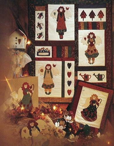 - Angel Season - One Pattern for Angels, Birdhouses, Watering Can, Heart - Fiber Mosaics - #89001