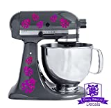 Ladybug Patterned Kitchen Stand Mixer Front/Back Decal Set - Purple Metal Flake