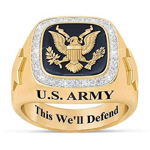 The Danbury Mint Personalized U.S. Military Ring (Army, 13) from The Danbury Mint