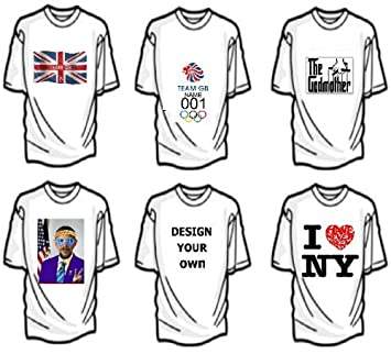 Personalised Iron On T-Shirt Transfers (A4)