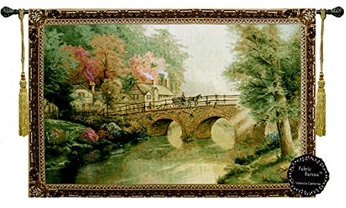 """Hometown Bridge Jacquard Woven 55""""W x 36""""L Wall Hanging for sale  Delivered anywhere in USA"""